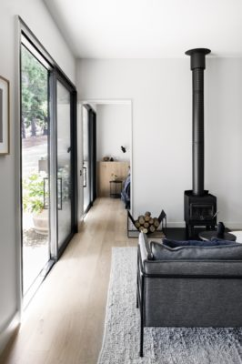 Studio Esteta's elevated design approach is evident in the highly detailed yet subtle lines of interior joinery, the cottage's soft palette and the highly tactile quality of material choices.