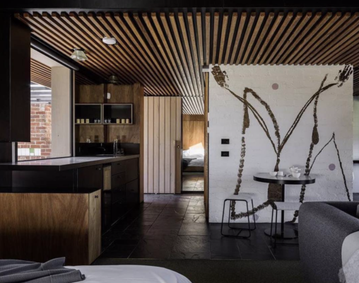 Brae Restaurant Accommodation by Six Degrees Architects. Image by Trevor Mein