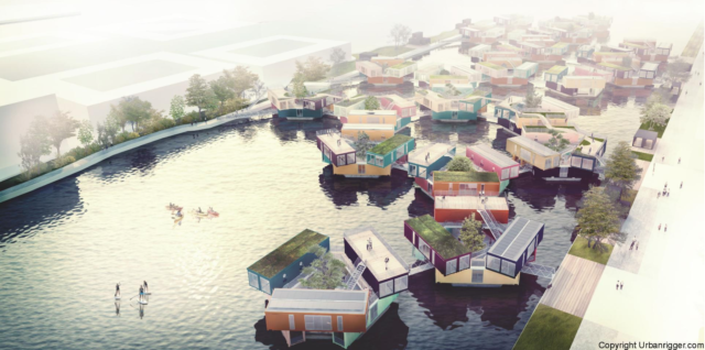 The future plan for multiple Urban Rigger units has the potential to hugely alleviate a lack of student, refugee & temporary housing in urban areas with access to available waterways.