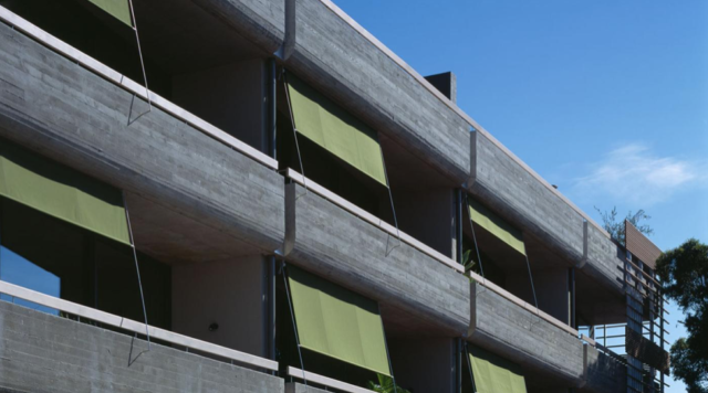49 Wilson Street by NEOMETRO heralded the use of concrete throughout the apartments.