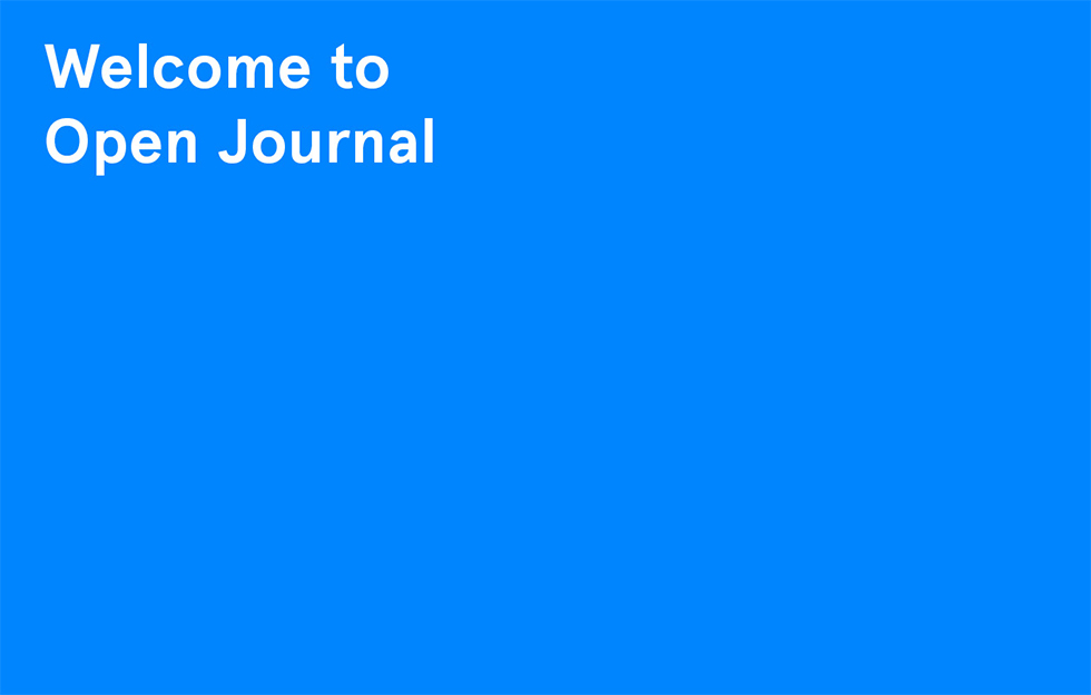 Welcome to Open Journel