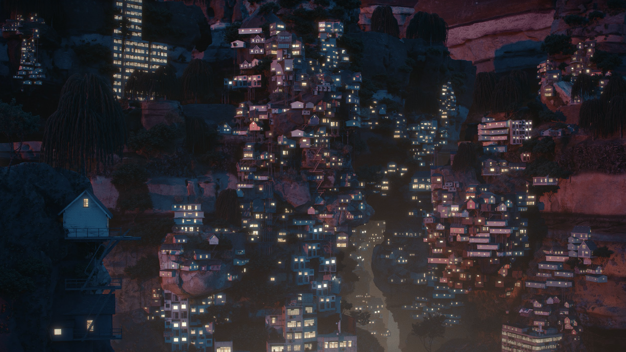 Digital still from 'Planet City' by Liam Young